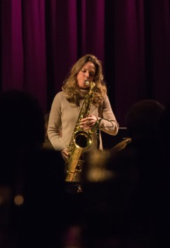Judith O'Higgins performing at Fleet Jazz Club on 20th March 2018. Photograph courtesy of Michael Carrington from the Aldershot, Farnham & Fleet Camera Club