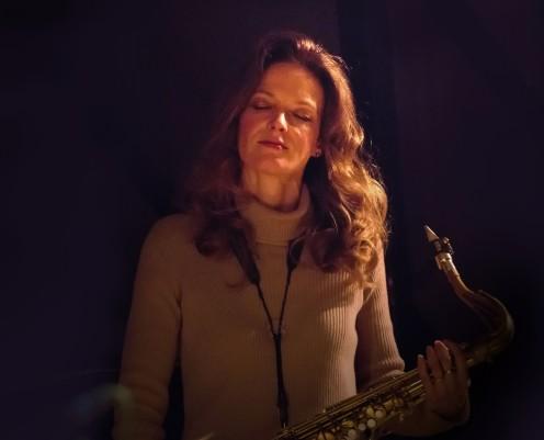 Judith O'Higgins performing at Fleet Jazz Club on 20th March 2018. Photograph courtesy of Michael Carrington from the Aldershot, Farnham & Fleet Camera Club