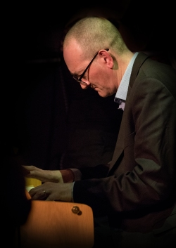 Graham Harvey performing at Fleet Jazz Club on 20th March 2018. Photograph courtesy of Michael Carrington from the Aldershot, Farnham & Fleet Camera Club