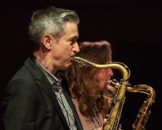 Dave O'Higgins and Judith O'Higgins performing at Fleet Jazz Club on 20th March 2018. Photograph courtesy of Michael Carrington from the Aldershot, Farnham & Fleet Camera Club