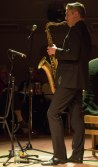 Dave O'Higgins performing at Fleet Jazz Club on 20th March 2018. Photograph courtesy of Michael Carrington from the Aldershot, Farnham & Fleet Camera Club