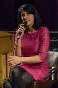 Sara Dowling performing at Fleet Jazz Club on 17th April 2018. Photograph courtesy of David Fisher from the Aldershot, Farnham & Fleet Camera Club.