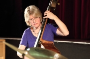 Marianne Windham performing in the Janette Mason Trio at Fleet Jazz Club on 15th May 2018. Photograph courtesy of Ana Peiro from the Aldershot, Farnham & Fleet Camera Club.