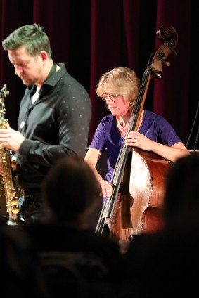 Paul Booth and Marianne Windham performing at Fleet Jazz Club on 15th May 2018. Photograph courtesy of Ana Peiro from the Aldershot, Farnham & Fleet Camera Club.