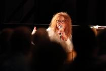 Janette Mason performing in the Janette Mason Trio at Fleet Jazz Club on 15th May 2018. Photograph courtesy of Ana Peiro from the Aldershot, Farnham & Fleet Camera Club.