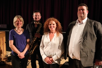 L-to-R Marianne Windham; Paul Booth; Janette Mason & Nat Steele