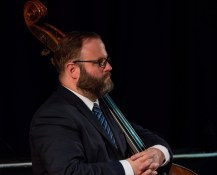 Dave Chamberlain performing with The Gordon Campbell All Star Octet at Fleet Jazz Club on 19th June. Photograph courtesy of Michael Carrington (from the Aldershot, Farnham & Fleet Camera Club).