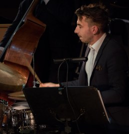 Ed Rchardson performing with The Gordon Campbell All Star Octet at Fleet Jazz Club on 19th June. Photograph courtesy of Michael Carrington (from the Aldershot, Farnham & Fleet Camera Club).