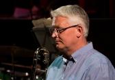 Mark Nightingale with the Clark Tracey's Stan Tracey Legacy Big Band performing at Fleet Jazz Club on Tuesday, 17th July. Photograph courtesy of Michael Carrington (Aldershot, Farnham & Fleet Camera Club) at The Harlington, Fleet.