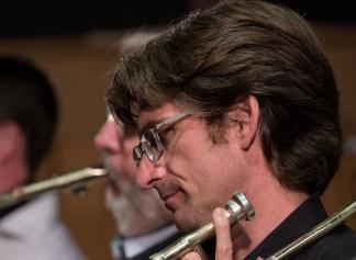Martin Gladdish performing with the Clark Tracey's Stan Tracey Legacy Big Band at Fleet Jazz Club on Tuesday, 17th July. Photograph courtesy of Michael Carrington (Aldershot, Farnham & Fleet Camera Club).