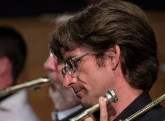Martin Gladdish performing with the Clark Tracey's Stan Tracey Legacy Big Band at Fleet Jazz Club on Tuesday, 17th July. Photograph courtesy of Michael Carrington (Aldershot, Farnham & Fleet Camera Club).