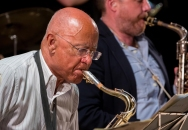 Art Themen performing with the Clark Tracey's Stan Tracey Legacy Big Band at Fleet Jazz Club on Tuesday, 17th July. Photograph courtesy of Michael Carrington (Aldershot, Farnham & Fleet Camera Club) at The Harlington, Fleet.