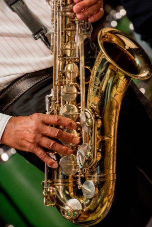 The Clark Tracey's Stan Tracey Legacy Big Band performing at Fleet Jazz Club on Tuesday, 17th July. Photograph courtesy of Michael Carrington (Aldershot, Farnham & Fleet Camera Club) at The Harlington, Fleet.