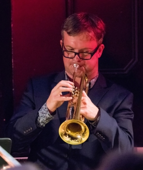 Mark Armstrong performing with the Clark Tracey's Stan Tracey Legacy Big Band at Fleet Jazz Club on Tuesday, 17th July. Photograph courtesy of Michael Carrington (Aldershot, Farnham & Fleet Camera Club).