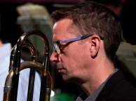 Peter North performing with the Clark Tracey's Stan Tracey Legacy Big Band at Fleet Jazz Club on Tuesday, 17th July. Photograph courtesy of Michael Carrington (Aldershot, Farnham & Fleet Camera Club) at The Harlington, Fleet.