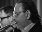 Martin Shaw performing with the Clark Tracey's Stan Tracey Legacy Big Band at Fleet Jazz Club on Tuesday, 17th July. Photograph courtesy of Michael Carrington (Aldershot, Farnham & Fleet Camera Club).