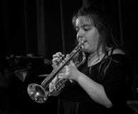 Alex Ridout performing with the Clark Tracey's Stan Tracey Legacy Big Band at Fleet Jazz Club on Tuesday, 17th July. Photograph courtesy of Michael Carrington (Aldershot, Farnham & Fleet Camera Club).