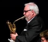 Jay Craig performing with the Clark Tracey's Stan Tracey Legacy Big Band at Fleet Jazz Club on Tuesday, 17th July. Photograph courtesy of Michael Carrington (Aldershot, Farnham & Fleet Camera Club).