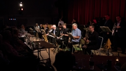 The Clark Tracey's Stan Tracey Legacy Big Band performing at Fleet Jazz Club on Tuesday, 17th July. Photograph courtesy of Michael Carrington (Aldershot, Farnham & Fleet Camera Club) at The Harlington, Fleet.