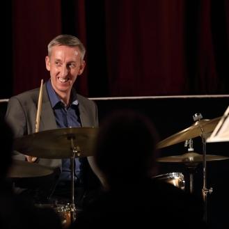 Steve Brown performing at Fleet Jazz Club on 18th September 2018. Photograph courtesy of Ana Peiro (Aldershot, Farnham & Fleet Camera Club)
