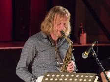 Matt Wates performing at Fleet Jazz Club on 13th November 2018. Photograph courtesy of Jeff Kelsey (Aldershot, Farnham and Fleet Camera Club).