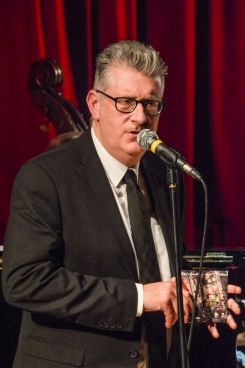 Chris Ingham performing at Fleet Jazz Club on 4th December 2018. Photograph courtesy of David Fisher (Aldershot, Farnham and Fleet Camera Club).