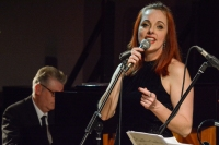 Joanna Eden performing at Fleet Jazz Club on 4th December 2018. Photograph courtesy of David Fisher (Aldershot, Farnham and Fleet Camera Club).
