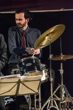 Alfonso Vitale at Fleet Jazz on 15th Jan 2019 performing with the Tony Kofi Quintet. Image courtesy of David Fisher (Aldershot, Farnham & Fleet Camera Club).