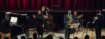 Tony Kofi Quintet performing at Fleet Jazz on 15th Jan 2019. Image courtesy of David Fisher (Aldershot, Farnham & Fleet Camera Club).