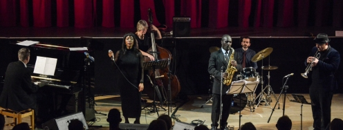 Tony Kofi Quintet performing at Fleet Jazz on 15th Jan 2019. Image courtesy of David Fisher (Aldershot, Farnham & Fleet Camera Club).