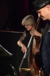 Marianne Windham at Fleet Jazz on 15th Jan 2019 performing with the Tony Kofi Quintet. Image courtesy of David Fisher (Aldershot, Farnham & Fleet Camera Club).