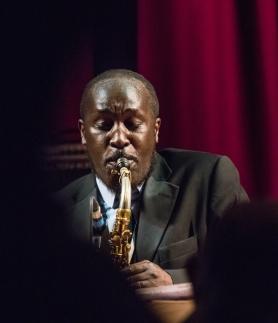 The Tony Kofi Quintet at Fleet Jazz on 15th Jan 2019 performing 'A Portrait of Cannonball'. Image courtesy of Michael Carrington (Aldershot, Farnham and Fleet Camera Club).