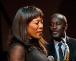 Deelee Dubé at Fleet Jazz on 15th Jan 2019 performing with the Tony Kofi Quintet. Image courtesy of Michael Carrington (Aldershot, Farnham and Fleet Camera Club).