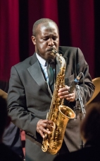 Tony Kofi at Fleet Jazz on 15th Jan 2019. Image courtesy of Michael Carrington (Aldershot, Farnham and Fleet Camera Club).