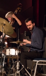 Alfonso Vitale at Fleet Jazz on 15th Jan 2019 performing with the Tony Kofi Quintet. Image courtesy of Michael Carrington (Aldershot, Farnham and Fleet Camera Club).