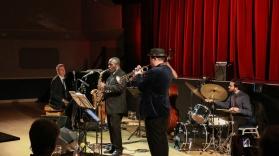 Tony Kofi Quintet at Fleet Jazz on 15th Jan 2019. Image courtesy of Robert Rowley (Aldershot, Farnham and Fleet Camera Club).