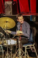 Alfonso Vitale at Fleet Jazz on 15th Jan 2019. Image courtesy of Robert Rowley (Aldershot, Farnham and Fleet Camera Club).