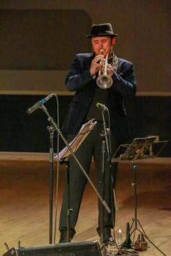 Andy Davies performing at Fleet Jazz on 15th Jan 2019. Image courtesy of Robert Rowley (Aldershot, Farnham and Fleet Camera Club).