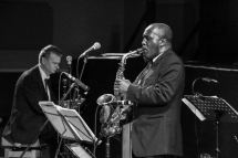 Tony Kofi performing at Fleet Jazz on 15th Jan 2019. Image courtesy of Robert Rowley (Aldershot, Farnham and Fleet Camera Club).