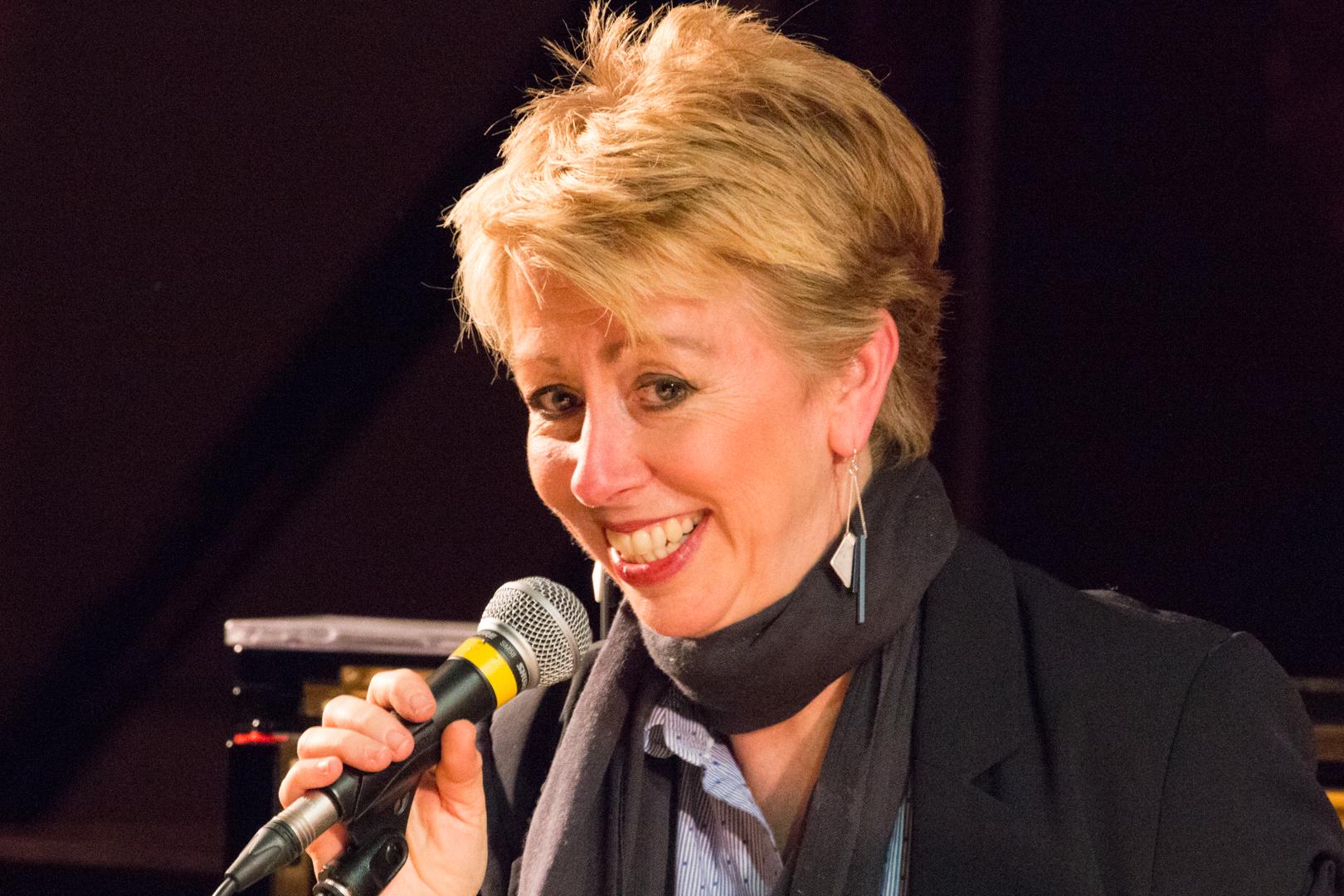 Nikki Iles performing at Fleet Jazz on 19th Feb 2019.