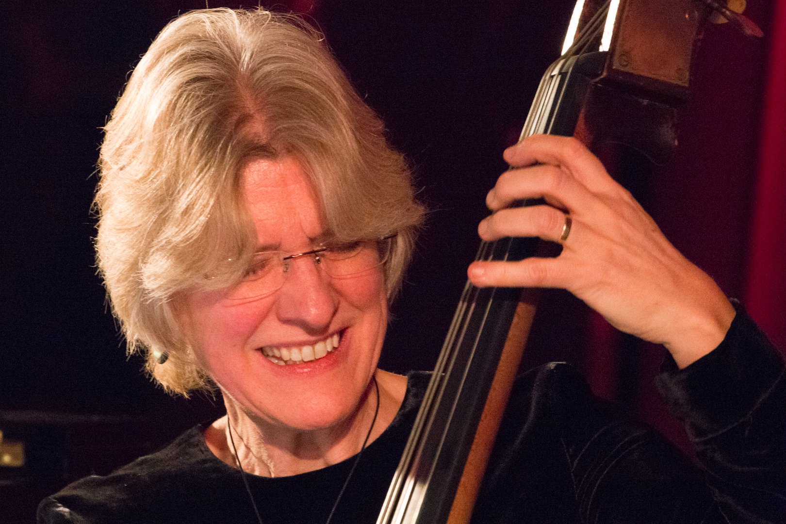 Marianne Windham performing in the Nikki Iles All Star Septet at Fleet Jazz on 19th Feb 2019