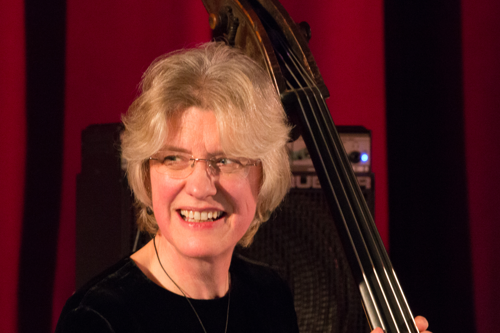 Marianne Windham performing in the Nikki Iles All Star Septet at Fleet Jazz on 19th Feb 2019.
