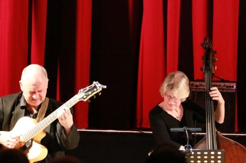Dominic Ashworth and Marianne Windham performing with The Craig Milverton Quintet at Fleet Jazz Club on 21th May 2019. Photograph courtesy of Robert Rowley (Aldershot, Farnham and Fleet Camera Club)