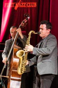 Brandon Allen performing at Fleet Jazz Club on 18th June 2019. Photograph courtesy of Michael Bacon (Aldershot, Farnham and Fleet Camera Club)
