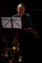 Ross Stanley performing with Brandon Allen at Fleet Jazz Club on 18th June 2019. Photograph courtesy of Michael Bacon (Aldershot, Farnham and Fleet Camera Club)