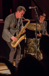 Brandon Allen performing at Fleet Jazz Club on 18th June 2019. Photograph courtesy of Michael Carrington (Aldershot, Farnham and Fleet Camera Club)