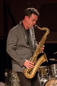 Brandon Allen performing at Fleet Jazz Club on 18th June 2019. Photograph courtesy of Michael Carrington (Aldershot, Farnham and Fleet Camera Club)