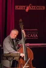 Arnie Somogyi performing with Brandon Allen at Fleet Jazz Club on 18th June 2019. Photograph courtesy of Michael Carrington (Aldershot, Farnham and Fleet Camera Club)